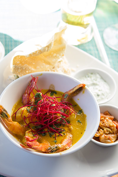 Two Oceans Restaurant Cape Point Prawn Curry