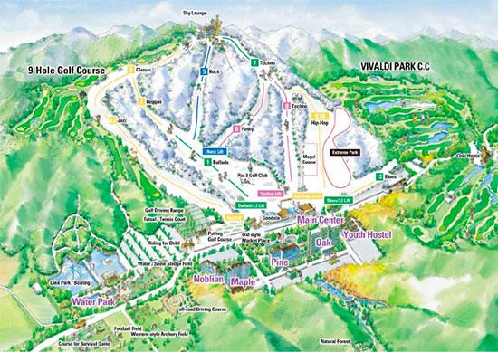 Vivaldi Park Ski Map