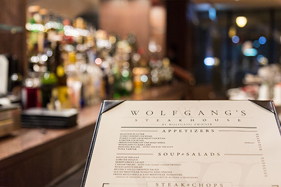 Wolfgang Steakhouse Singapore Menu