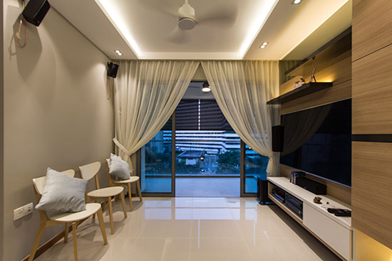 how to add curtains to condo